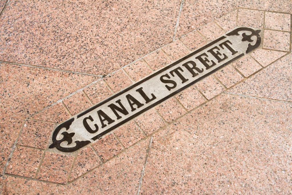 Canal Street engraved on the ground