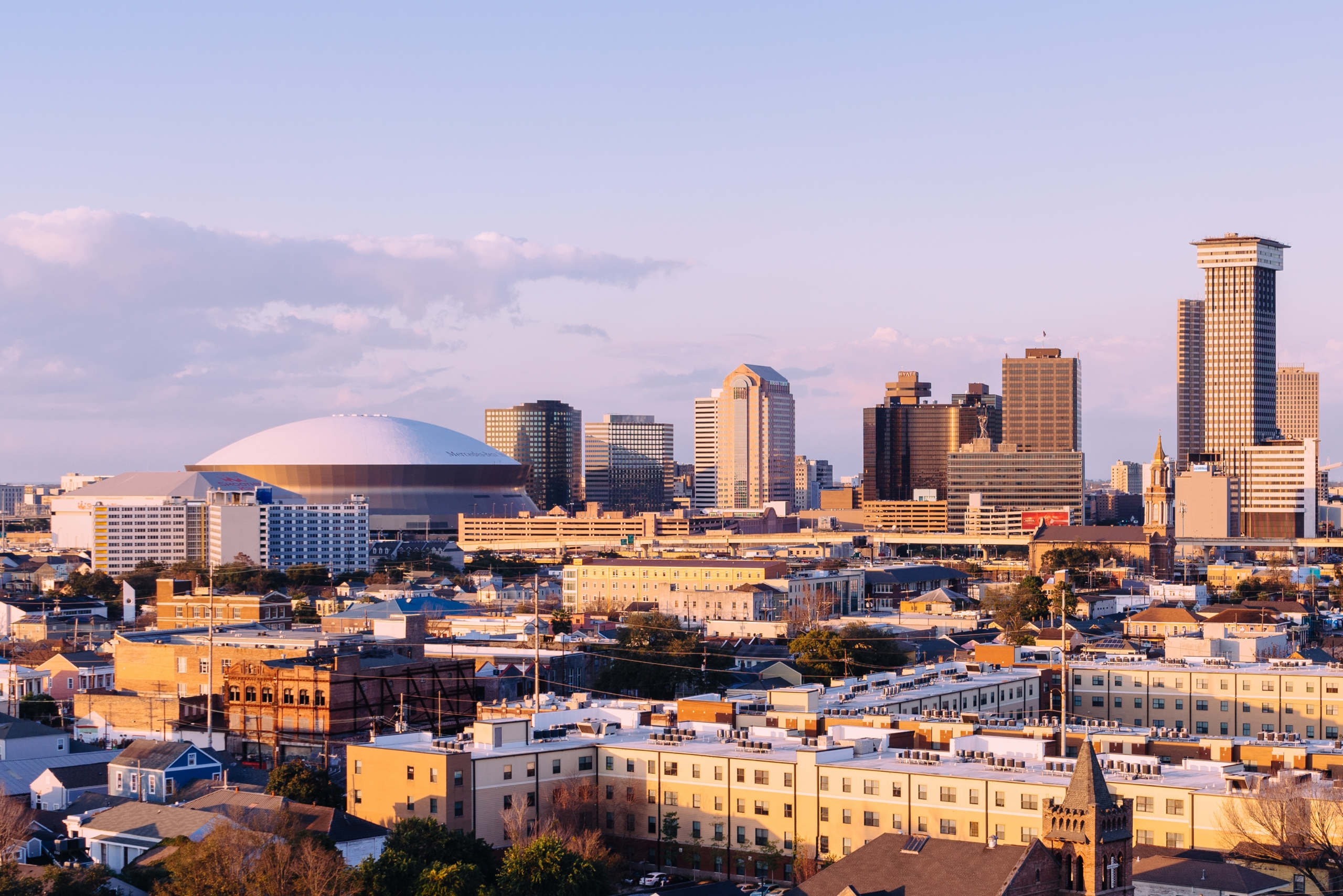 Sweeping view of downtown New Orleans